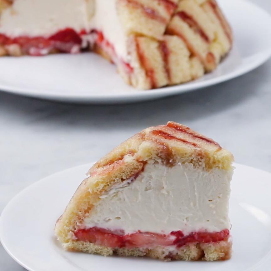 Strawberry Shortcake Cheesecake Dome (Charlotte Royale)