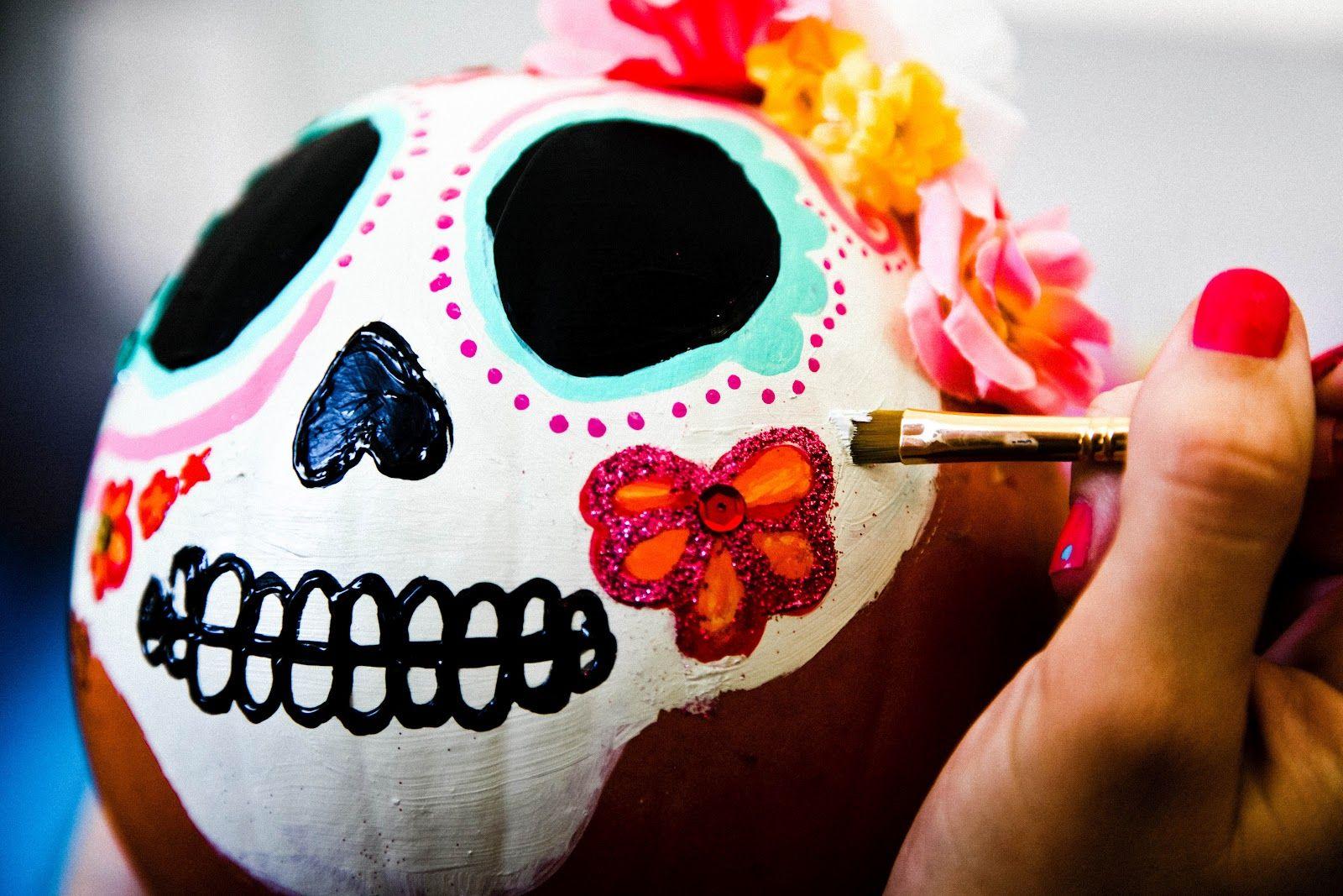 dia de los muertos pumpkins | wildheartwhispers