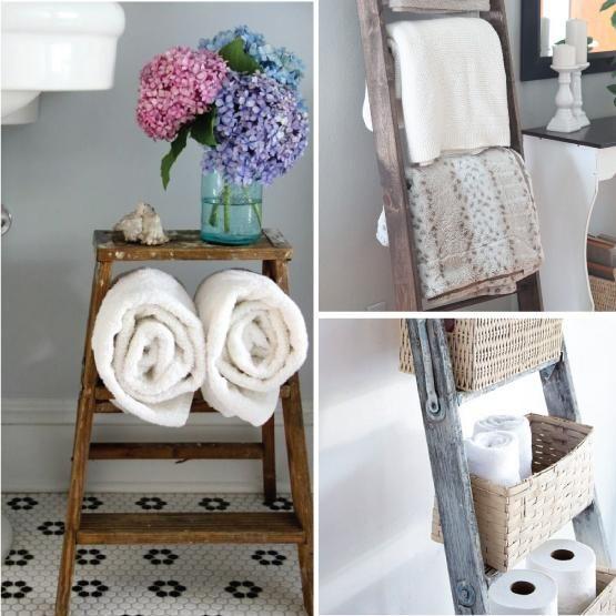 Otras formas de uso para una escalera ;) #revistainkomoda #decoracion #escaleras #orden #hogar #revista