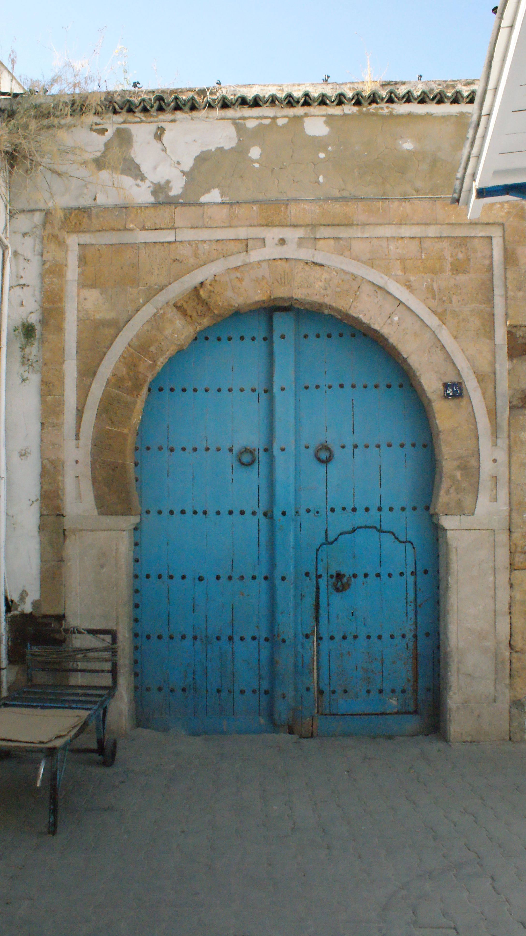 Door in Tunis Tunisia.