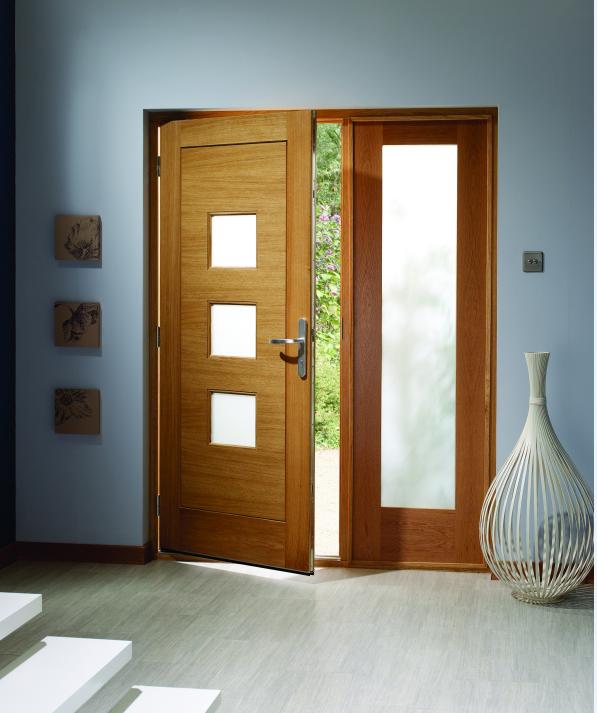 wooden front doors with glass. External Oak Pattern 10 Sidelight with Obscure Glass  Sidelights Doors Windows Offset door My Modern Home Pinterest doors