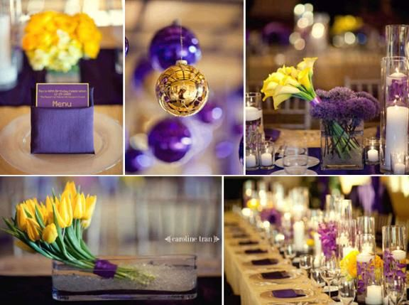 Nba Finals Fun La Lakers Inspired Purple Gold And Yellow Wedding
