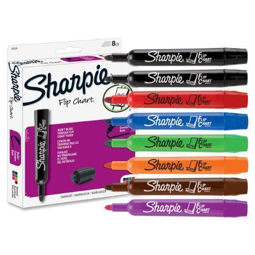 Sharpie Flip Chart Markers, Assorted Colors, Box of 8 (22478) Sharpie http://www.amazon.com/dp/B00006IFH6/ref=cm_sw_r_pi_dp_sm77ub0E4C2AQ