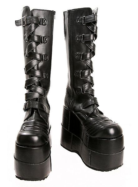 8c0f4c98c812 Demonia By Pleaser Stacked Strap Boots in 2019