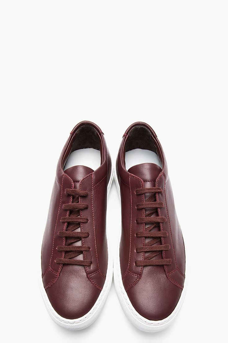 The Best Men s Shoes And Footwear   Common Projects Burgundy Leather ... 4158d37868f