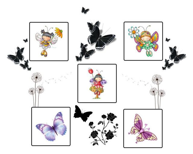"""FAIRY BABYS"" by dinyill-wallace ❤ liked on Polyvore featuring art"