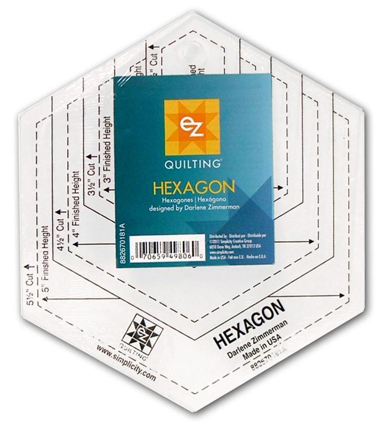 EZ Quilting Hexagon Acrylic Template -- CreateForLess | - -Sew ...