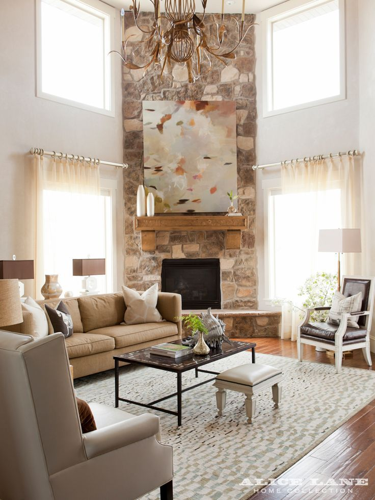 Natural Stone Fireplace Paired With Transitional Decor Not All Natrual Stone Firep Corner Fireplace Living Room Livingroom Layout Living Room Furniture Layout