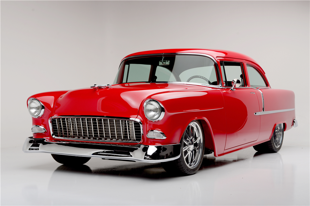 For Sale At Auction This 1955 Chevy 210 2 Door Sedan Was Professionally Built In Gilbert Az By Speed Shop Sports Equipp 1955 Chevrolet 1955 Chevy Chevrolet