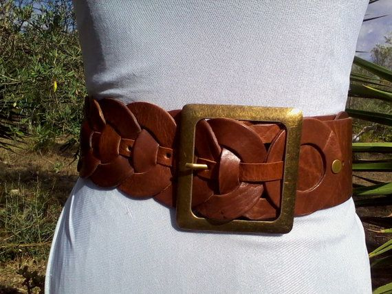 WOVEN LEATHER BELT - vero cuoio ❤