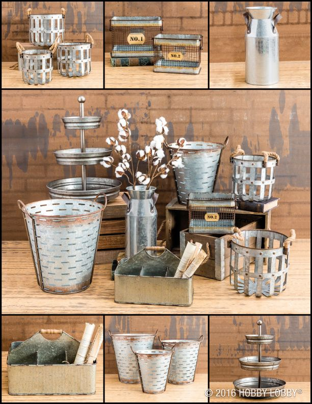 Galvanized Metal What Industrial Dreams Are Made Of Galvanized Decor Industrial Farmhouse Decor Hobby Lobby Decor