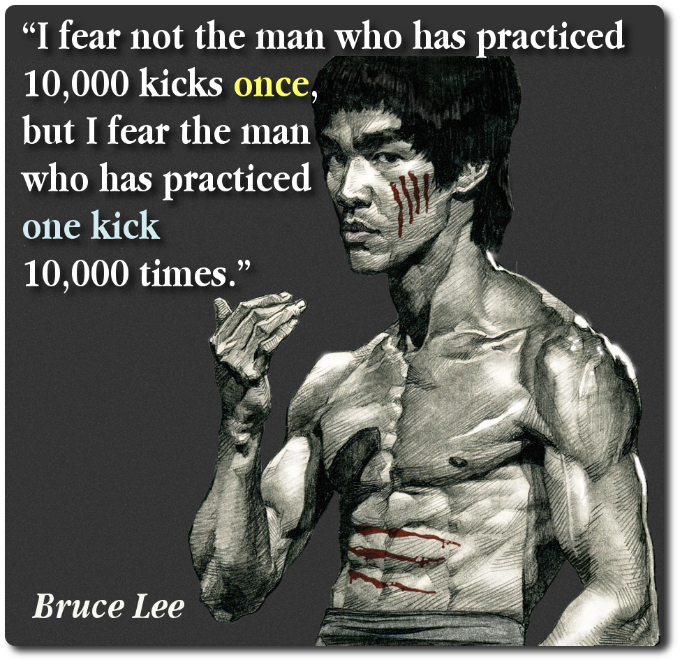 Practice Makes Perfect Great Quote By Bruce Lee Positive