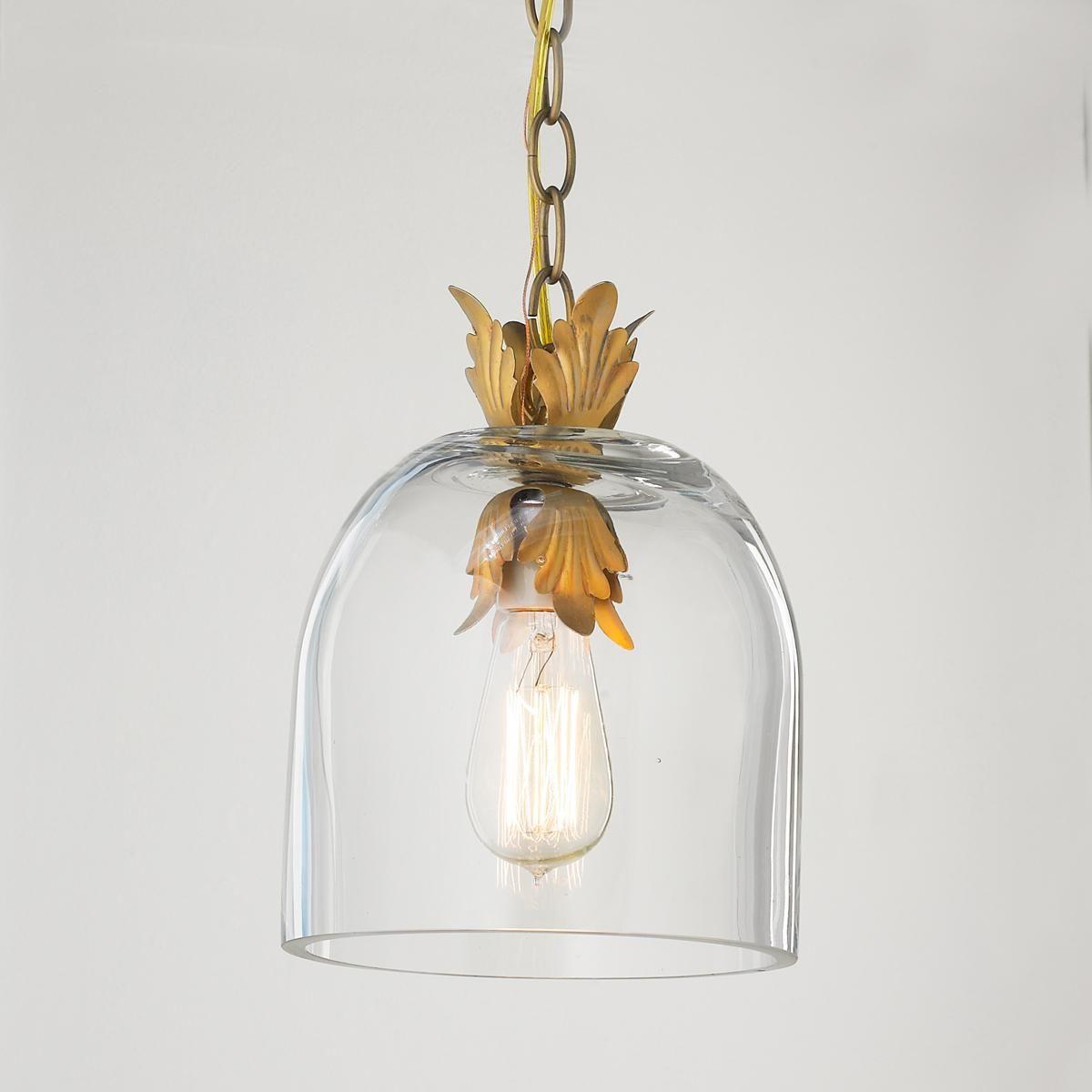 Acanthus Leaf Dome Pendant Light Dome Pendant Lighting Gold