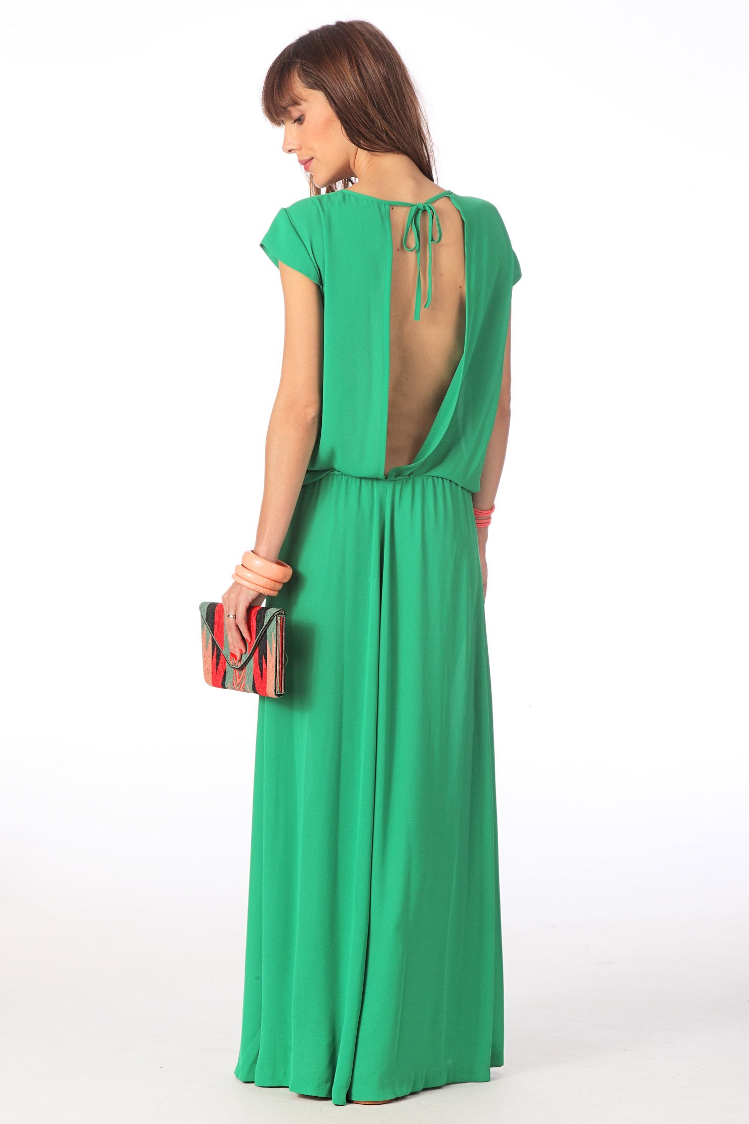 Robes elegantes france robe longue ete verte for Robe fluide verte