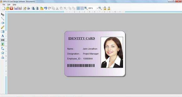 Id Card Maker Utility Provides The Simple And Smart Methods To Generate Preferred Style Identity Cards In Va Id Card Template Card Design Loyalty Card Template