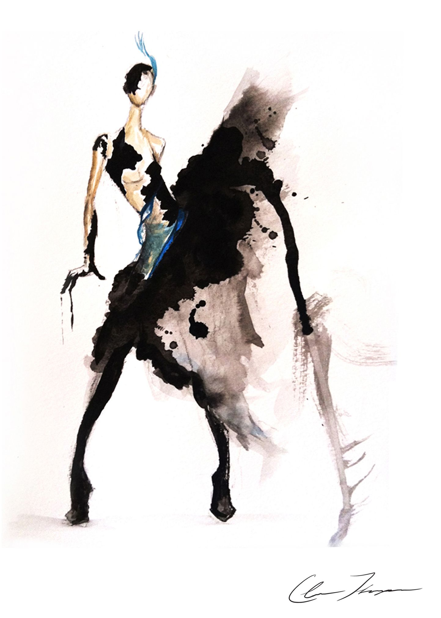 Fashion sketches new fashion sketches - Fashion Illustration Watercolor Ink Croquis Fashion Illustration Image Stand New York