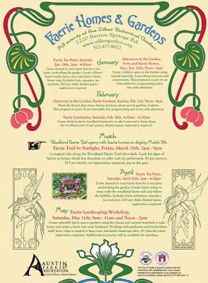 Free Fun In Austin Zilker Botanical Faerie Homes Gardens Events Faeries Fairy Garden Furniture Fairy Garden Accessories