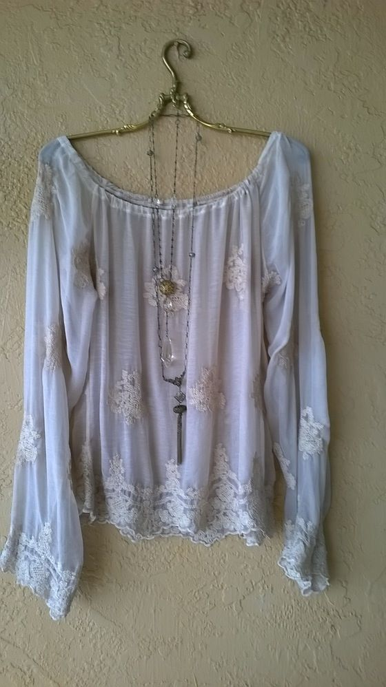 Image of Violet Gypsy embroidery Peasant blouse