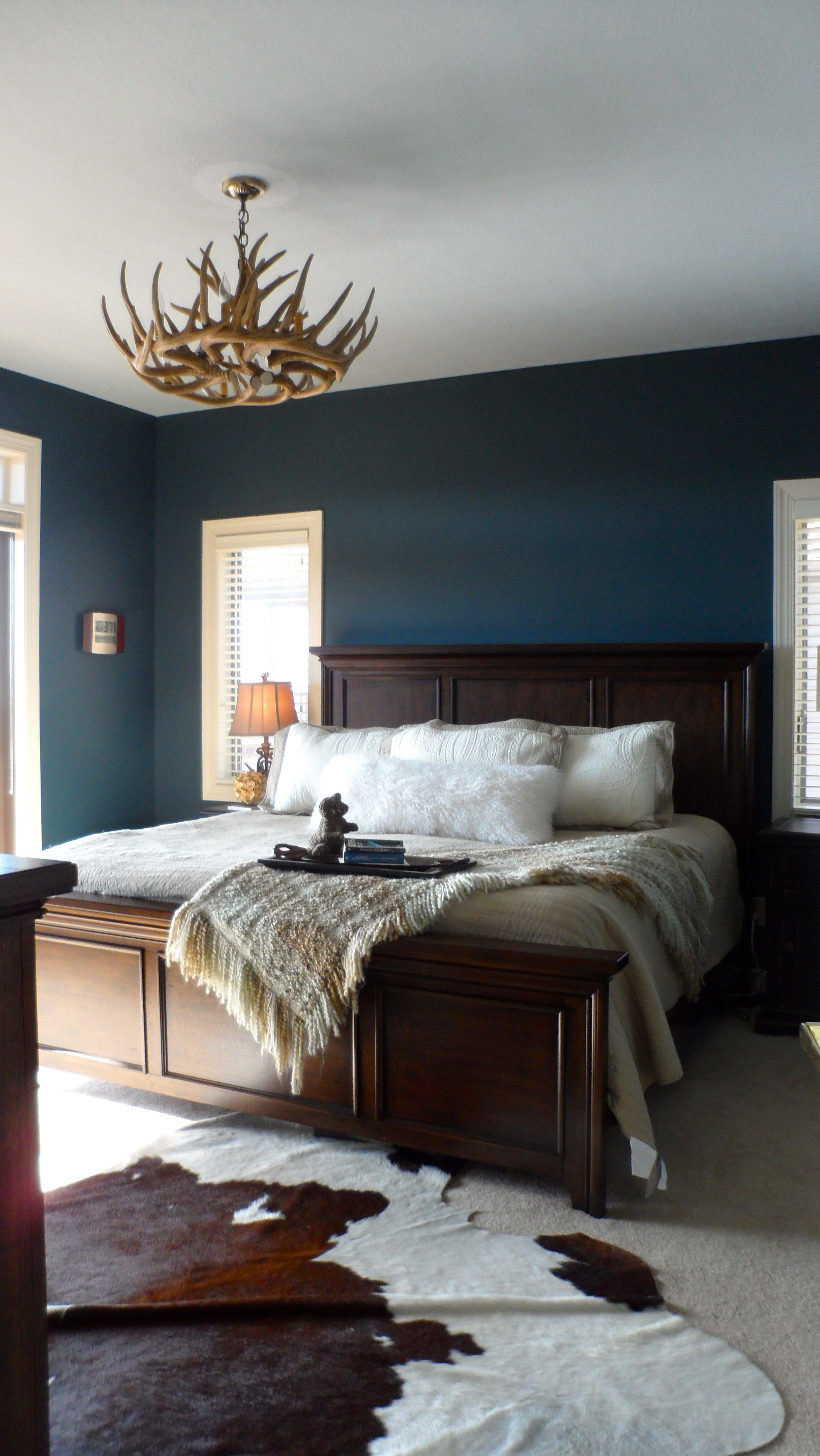 Bedroom Paint Colors 2020 With Navy Bed Set In 2020 Blue Bedroom Walls Blue Master Bedroom Master Bedrooms Decor