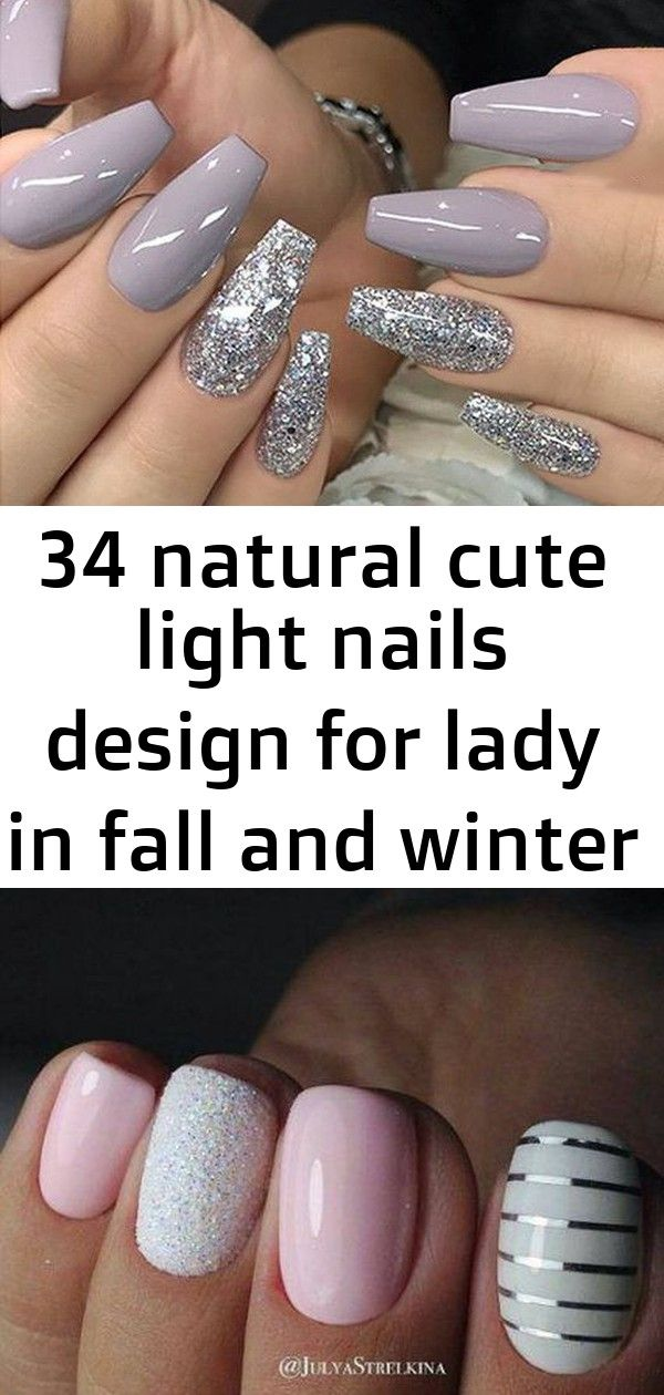 34 natural cute light nails design for lady in fall and winter – page 21 of 34