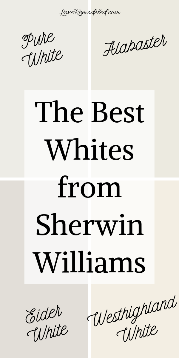 The Best White Paints from Sherwin Williams