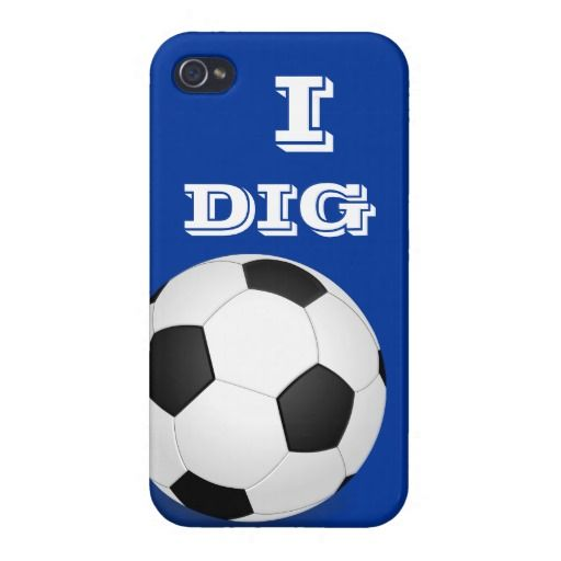 I Dig Soccer iPhone 4 Cases For iPhone 4 #phonecase #cases #pattern #monogram #iphone5 #cases #soccer