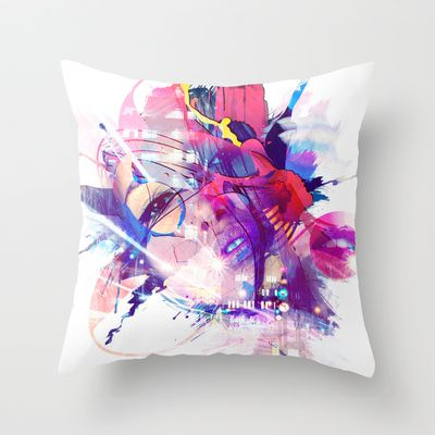 Urban Beauty Throw Pillow by marvelgd - $20.00