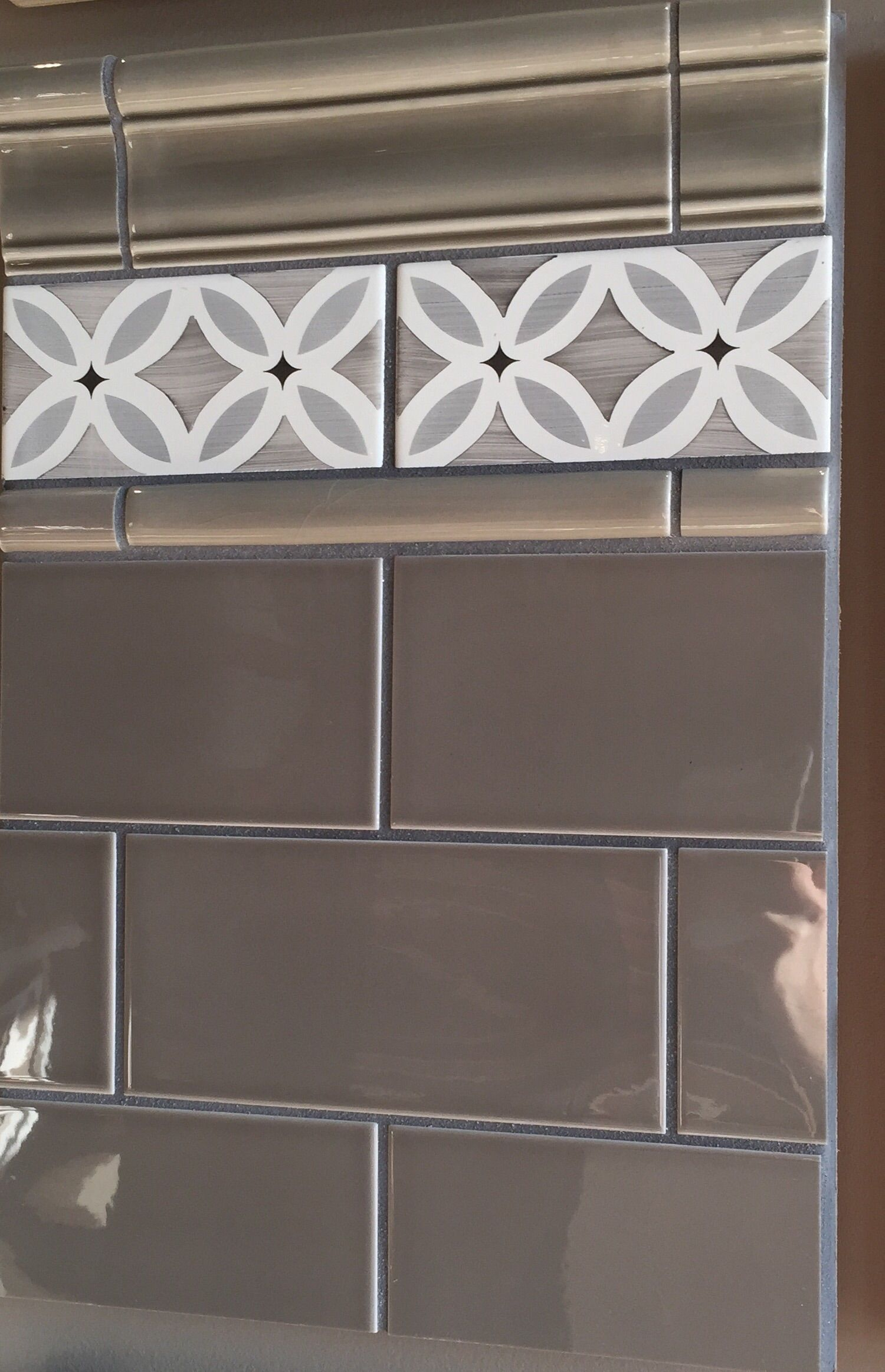 3x6 Subway Tiles With Hand Painted Deco Pieces Ceramic Tiles