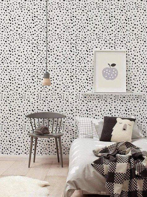 Kinderzimmer, Wohnen, Kinder Tapete, Vinyl Wallpaper, Temporäre Tapete, Baby  Schlafzimmer, Schlafzimmer Ideen, Kinderzimmerideen, Weiß Kinderraum