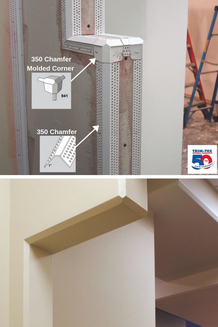 Trim Tex 350 Chamfer Bead Drywall Corner Bead Tip Trim Tex Drywall Corners Vinyl Trim