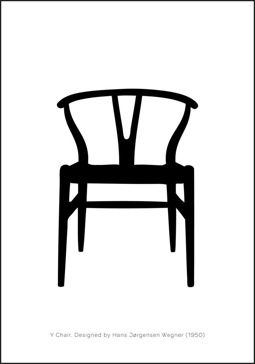 Svanen Stol designet av Arne Jacobsen (1958)– Plakatbar.no