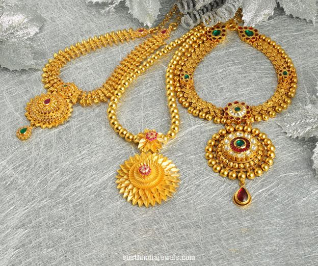 22k Gold Necklace Designs From Jos Alukkas Gold Gold