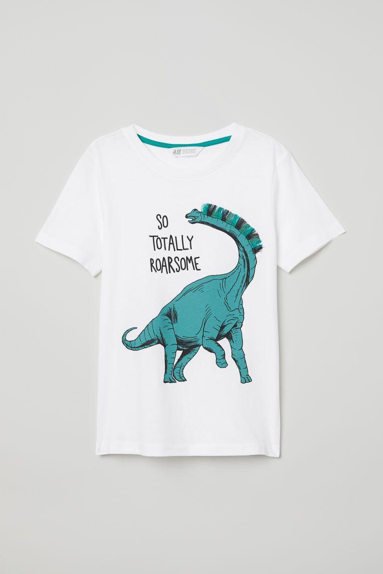 7a6bffb72 Camiseta con flecos - Blanco Dinosaurio - NIÑOS