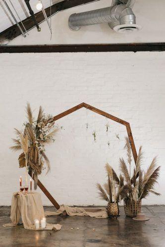 Arco para casamento geométrico: + de 90 inspirações para você – Tendência M… – Boda fotos