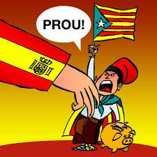 "11 September 2014 - Catalonia National Day. Catalan cartoon: ""enough is enough"" (addressed to Madrid government in Spain)"