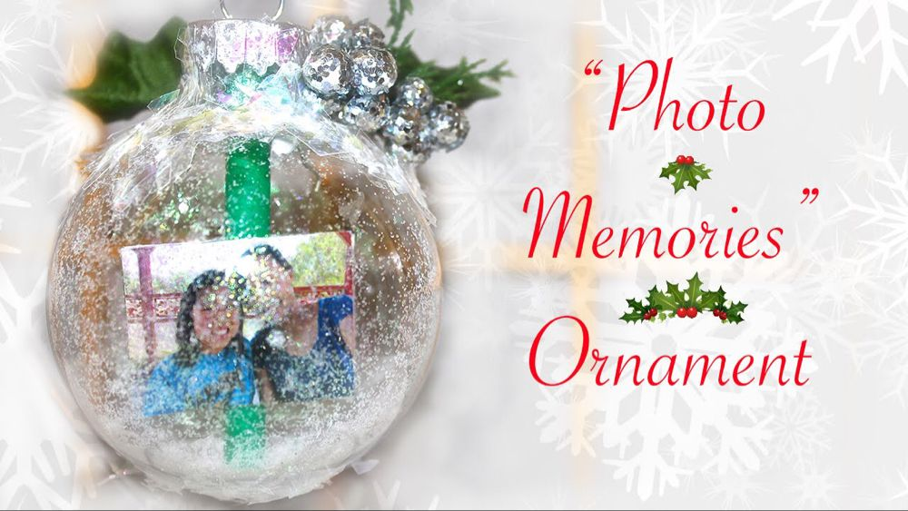 """DIY """"Photo Memories"""" Ornament (Gift for Someone Special"""