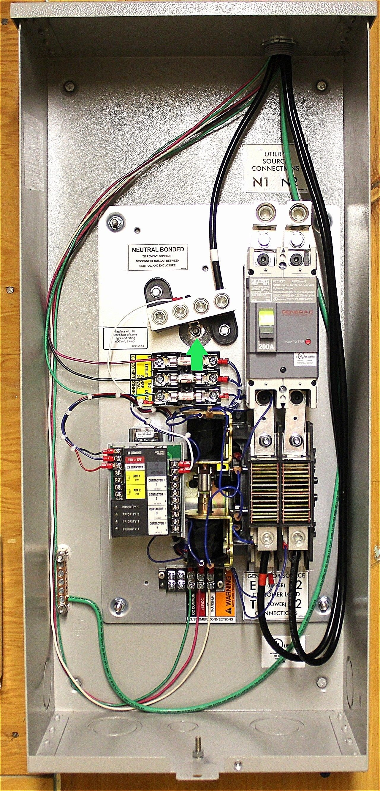 Wiring Diagram for Generator Transfer Switch diagram