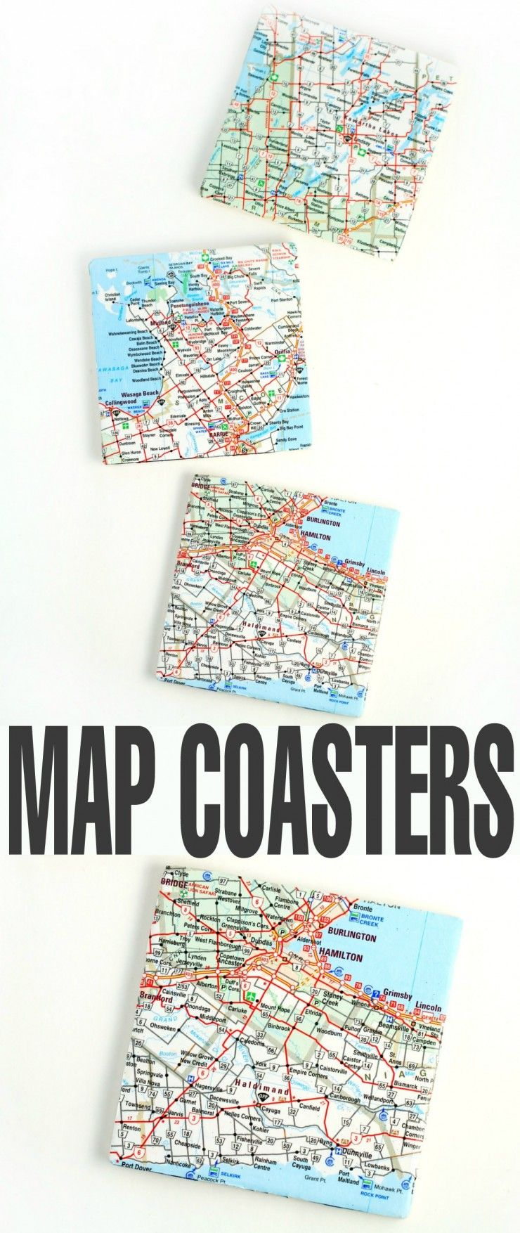 Map Coasters Local Map Map Coasters And Upcycle - Create coasters from photos