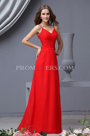 In Ivory- Yes, Angie, I am looking at prom dresses because I like most of them better.  Sheath/Column Spaghetti Straps Sleeveless  Floor Length  Chiffon  Ruffles  Zipper Up