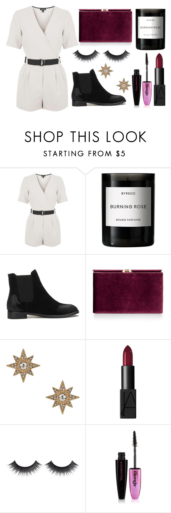 """""""Untitled #262"""" by fashionstruck15 ❤ liked on Polyvore featuring Topshop, Byredo, Monsoon, Blu Bijoux, NARS Cosmetics and L'Oréal Paris"""