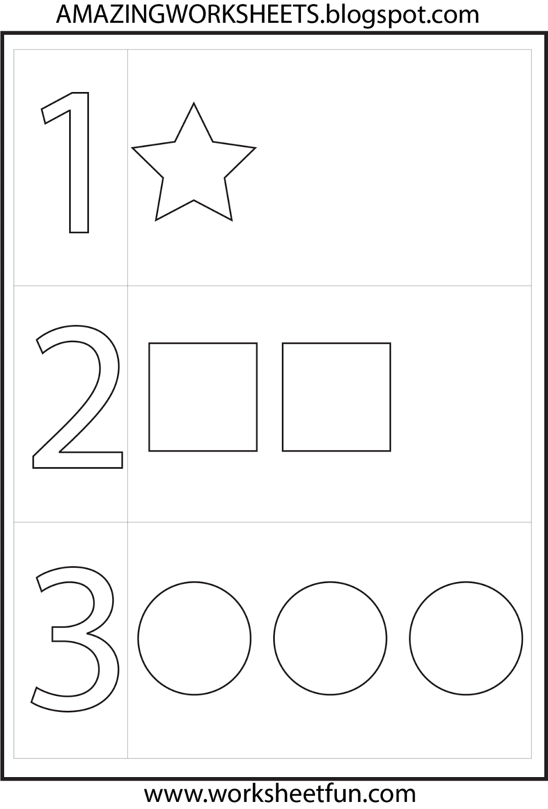 Free Number 1 Worksheets Pictures - Math Free Preschool ...