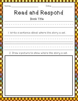 read respond a guided reading freebie first grade guided. Black Bedroom Furniture Sets. Home Design Ideas