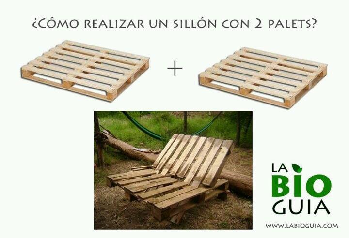Sillon de palets mi cocina sillones con palets palets for Sillones de madera reciclada