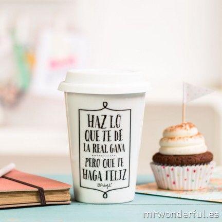"Taza take away "" Haz lo que te dé la real gana"". A la venta en http://www.mrwonderfulshop.es #tazas #takeaway"