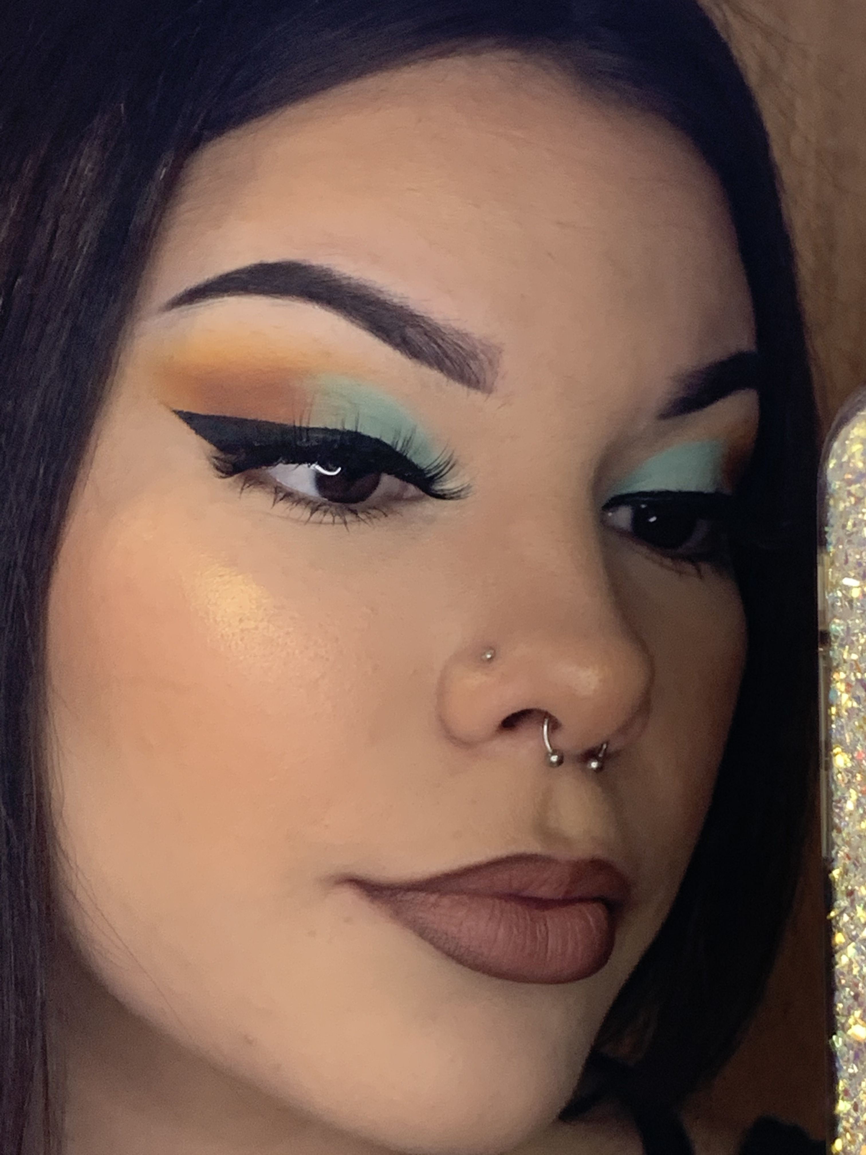 I love this color combo🧚🏻🧡 in 2020 Full face makeup