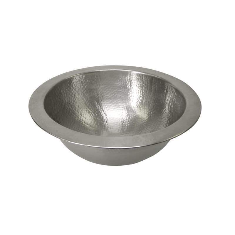 """Photo of Brass Elegans 209LVHMFL 12-1 / 4 """"Round Hammered Copper Undermount Sink Washbasin …"""