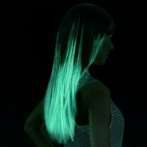 Glow In The Dark. Hair This Is So Cool