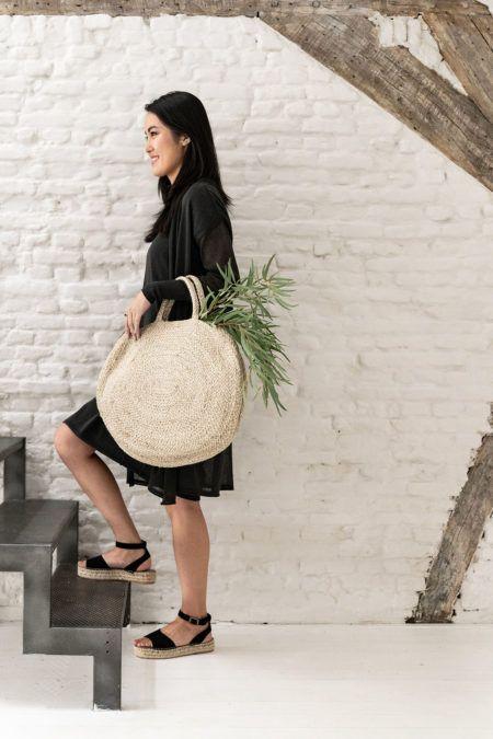 Ronde jute tas in 2019 | accessoires Bags, Straw Bag en