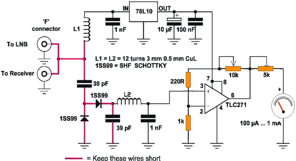 Circuito Eletronica : Circuito eletrônico do satellite finder eletrônica
