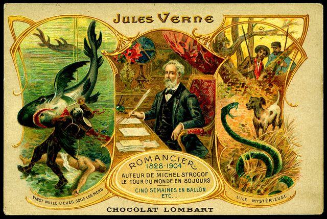 French Tradecard Jules Verne Jules Verne Giclee Print Vintage Prints